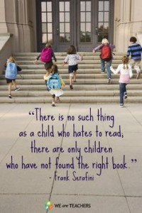 no such things as a child who hates to read